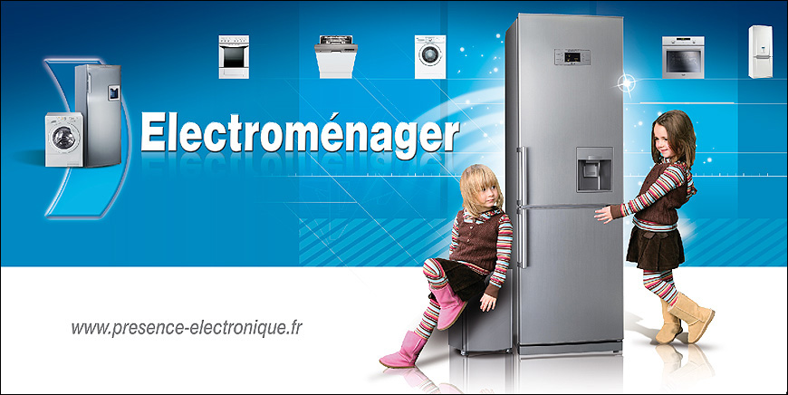 Creation De Lunivers Electromenager Pour Le Balisage Et Lhabillage Linterieur Du Magasin